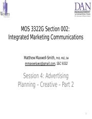 Session 4 - _PPT_ Advertising Planning - Creative _Ch 4_ - Part 2