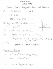 Math 424 Integrals, Series and Residues