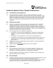acadmic appeal policy