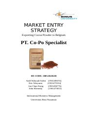 Market Entry + Working Paper of Exporting Cocoa Powder.docx