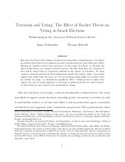 Terrorism and Voting Paper