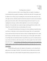 The Things They Carried analysis essay.docx