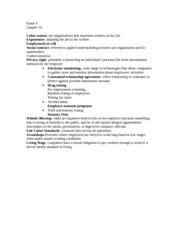 MGT 4397-Chapter 16 Notes
