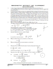 Magnetics Effect of Current Revision Note