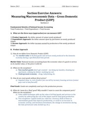 02 Section Exercise Answers Measuring Macroeconomic Data – Gross Domestic Product (GDP)