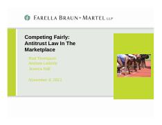 Competing Fairly - Antitrust Law In the Marketplace