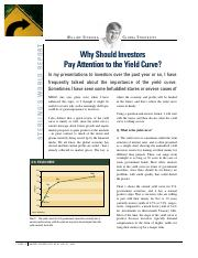 Why Should Investors Pay attention to the Yield Curve