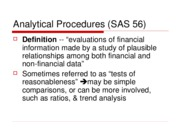 Analytical Procedures (SAS 56)