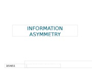 Week 7-Information Asymmetry with Review 2