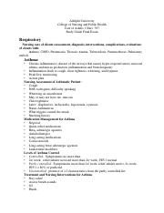 Final Study Guide Adult Med Surg 2