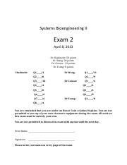 SBE2013_Exam2_solutions