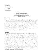 Lab 5 - Osmosis and Diffusion Spring 2015 - Biology 101 ...