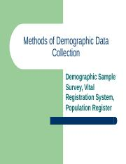Methods of Demographic Data Collection-2016.ppt
