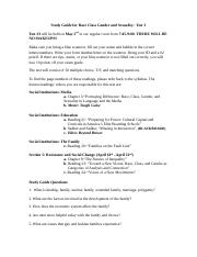 Study Guide for test #3 Race class gender and sexuality Spring 2016 10 am (1).doc