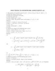 MATH 317 Spring 2014 Assignment 2 Solutions