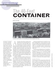The 40 foot container