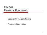 Lecture 22 - Pricing