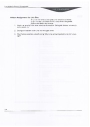 Written Assignement Unit  2 - BAM 313 - Financial Management