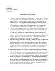 Copy of African Book Project Reflection
