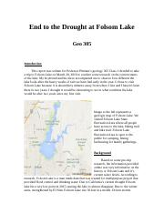 End to the Drought at Folsom Lake.docx