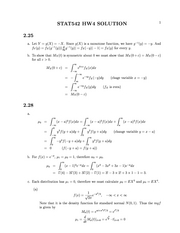 Stat 542 Monotone Functions Homework Solutions