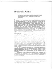 brunswick distribution inc case study answer Study island is a leading academic software provider of standards-based assessment, instruction, and test preparation e-learning programs.