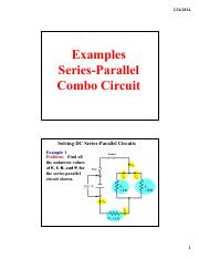 Examples of Series and Parallel Combined Circuits