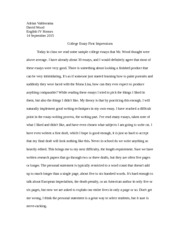 HE Journal College Essay Impressions.doc
