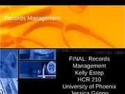 FINAL Records Management