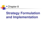 Strategy formulation and Implementation