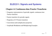 04 The Continuous-Time Fourier Transfor