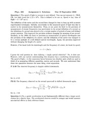 Phys 200 Special Relativity Homework Solutions
