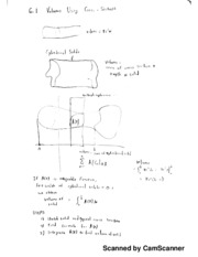 Calc 1 Notes, Volumes Using Cross Sections