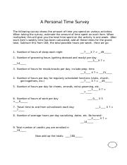 A Personal Time Survey.doc