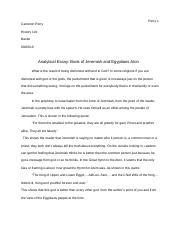 Analytical Essay #1