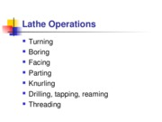 Lathe Operations-background