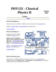 PHY132 Sp04 Course Info