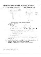 Limit States of Bolted Joints Notes