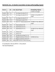 FALL 2015 - Part 2 Lecture Schedule, Textbook Chapters and MB Assignment Dates-2