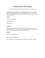 B201 Comparative Advantage Notes 2