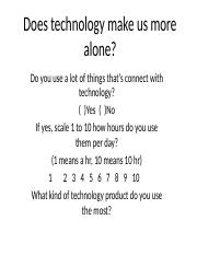 Does technology make us more alone.pptx