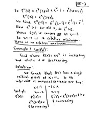 CPSC 421 Relative Maximums and Minimum Lecture Notes