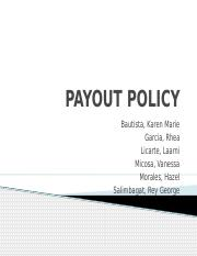 PAYOUT-POLICY