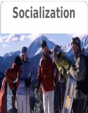 Lesson 3 - Socialization and the life course