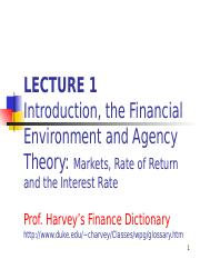 1. Lec 1 Intro Markets Interest Rates Ch1 + Ch4 (1)