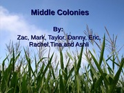 Middle colonies 2
