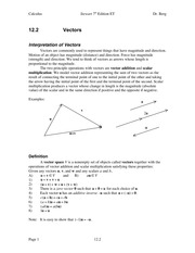 Calculus Notes 7E 12.2