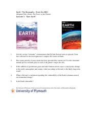 Earth The Biography Film Journal Prompt