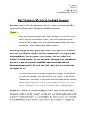 Frederick Douglass Chapters 1-4