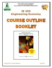 IE255 Course Outline Booklet F16 v2